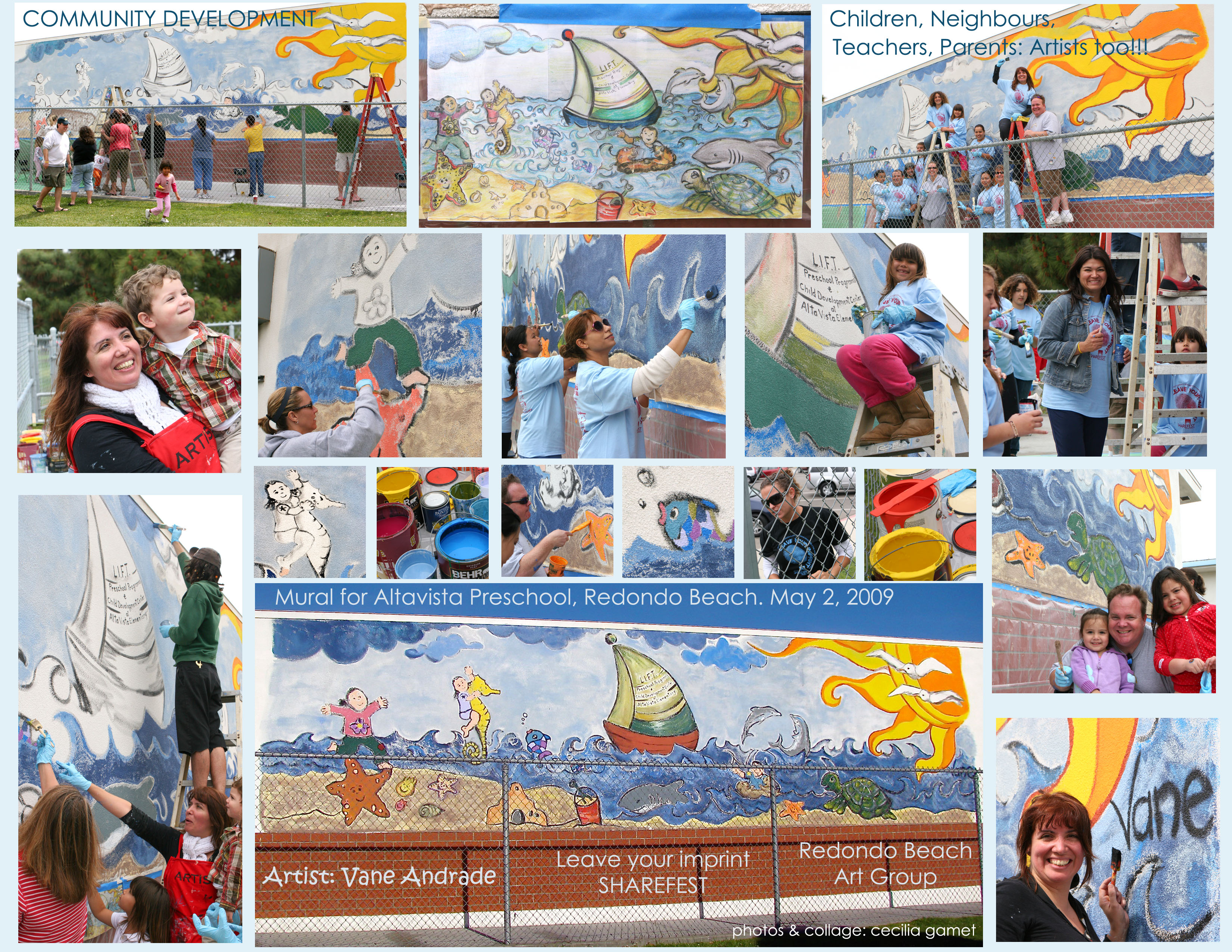 Vane Andrade's murals for ShareFest