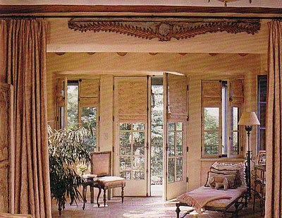 french doors seem to pose a dilema with window treatments sometimes wood blinds are so bluky and have such a high stack when pulled