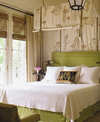 Sometimes finding the right wall decor for over a bed can be a challenge- but instead of wall decor- add some fabric. The softness and romance it adds goes ... & Christine Fife Interiors - Design With Christine - Just Put Some ...