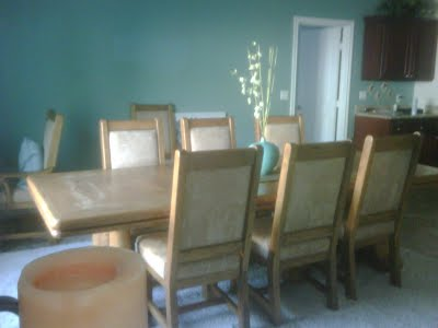 The Kitchen Has Dark Cherry Cabinetscannot Paint Them Per Husband And Sometimes I Have To Listen Him My Dining Room Large Oak Table With 8
