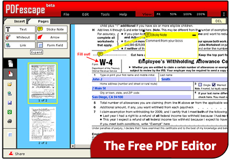 pdfescape convert pdf to text