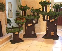 Handmade Luxury Cat Furniture Tree Design Cat Condo Featured Pet