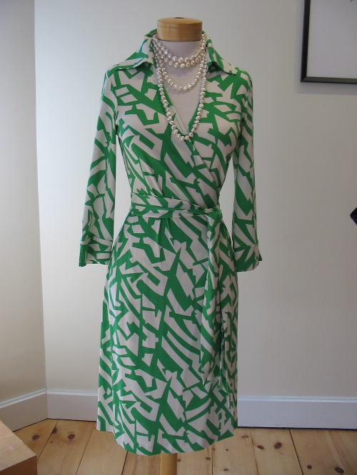 Dvf Vintage Wrap Dress The Justin silk wrap dress