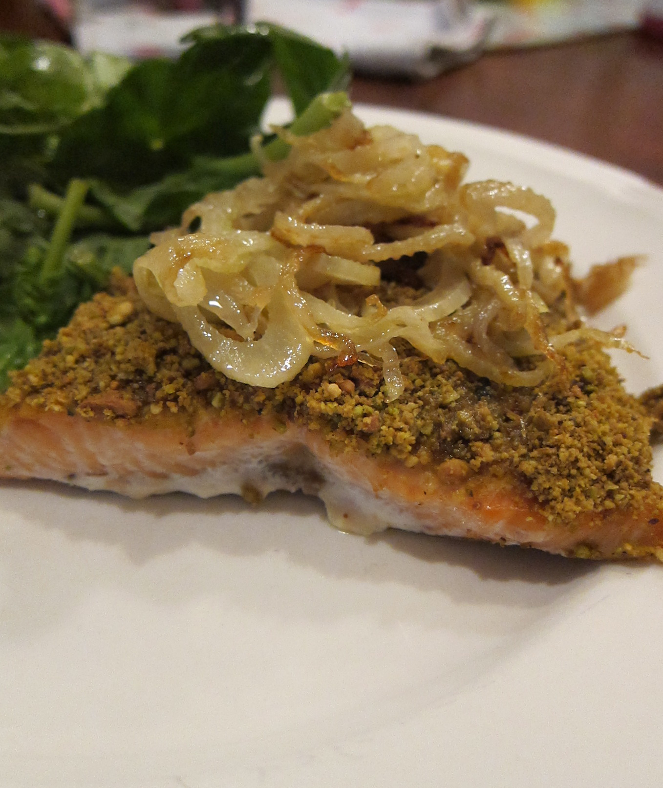 Paleo day 1 pistachio crusted salmon redeeming the table for Pistachio crusted fish