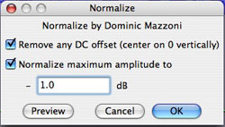 Normalizer Dialog