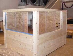 The Drum Condo. This was the first test fit of the front roof section. It fit! Click to enlarge.