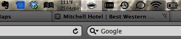 It does one thing and it does it well. As you can see, I'm a bit of a menu-bar junkie...