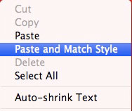 The key to cutting and pasting.