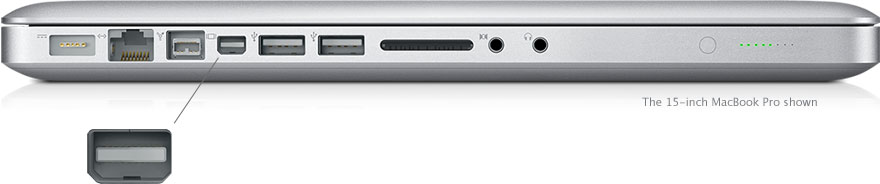 Side view of the MacBook Pro 15""