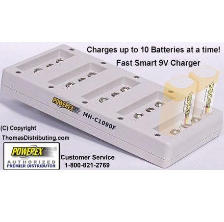 Maha MH-C1090 10 Bay 9V charger