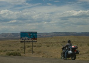 Finally, we made it to Utah. Not sure who the motorcyclist is...