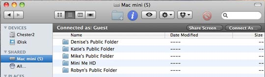 Mac Screen Sharing