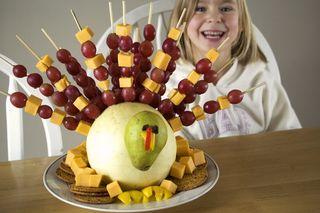 Thanksgiving Fruit Turkey