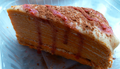 The Thai tea crepe cake, above, is another of Sutheera's truly unique ...