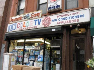 tv repair shop. when a sign\u0027s largest letters are color tv, you know that it\u0027s been there for while. and it has: j\u0026r has holding court on seventh avenue between tv repair shop d