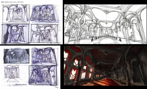 RQC Great Hall Concept Sketches
