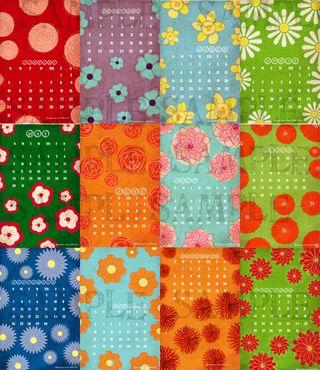 Floral Calendar Samples