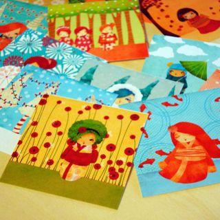 Kokeshi stickers 4