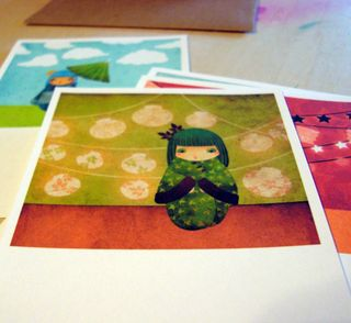Kokeshi notecards 2