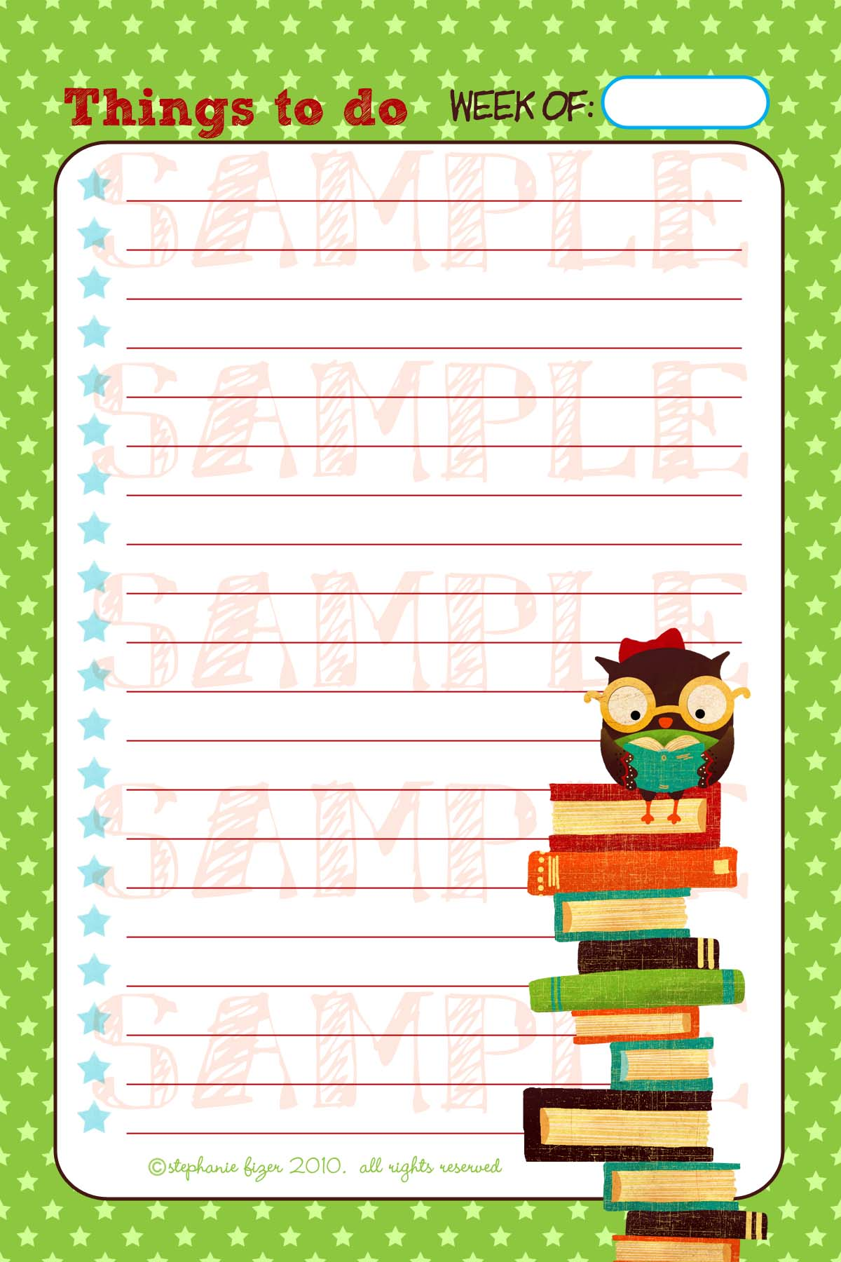 Bookish Owl Notepad