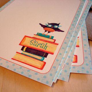 Bookish owl notecards 5