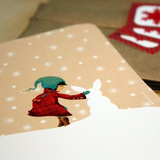 Snow Bunny Holiday Notecard Set