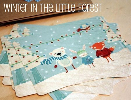 Winter in the little forest