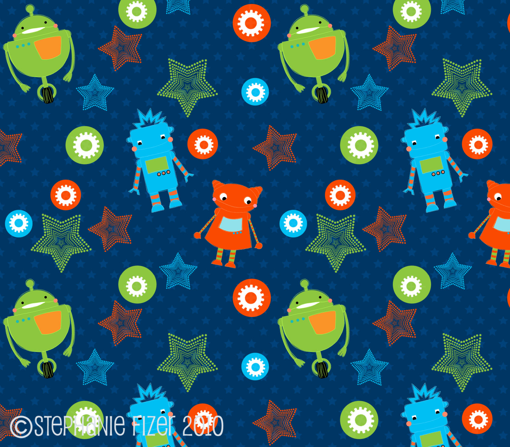 Cute bots pattern
