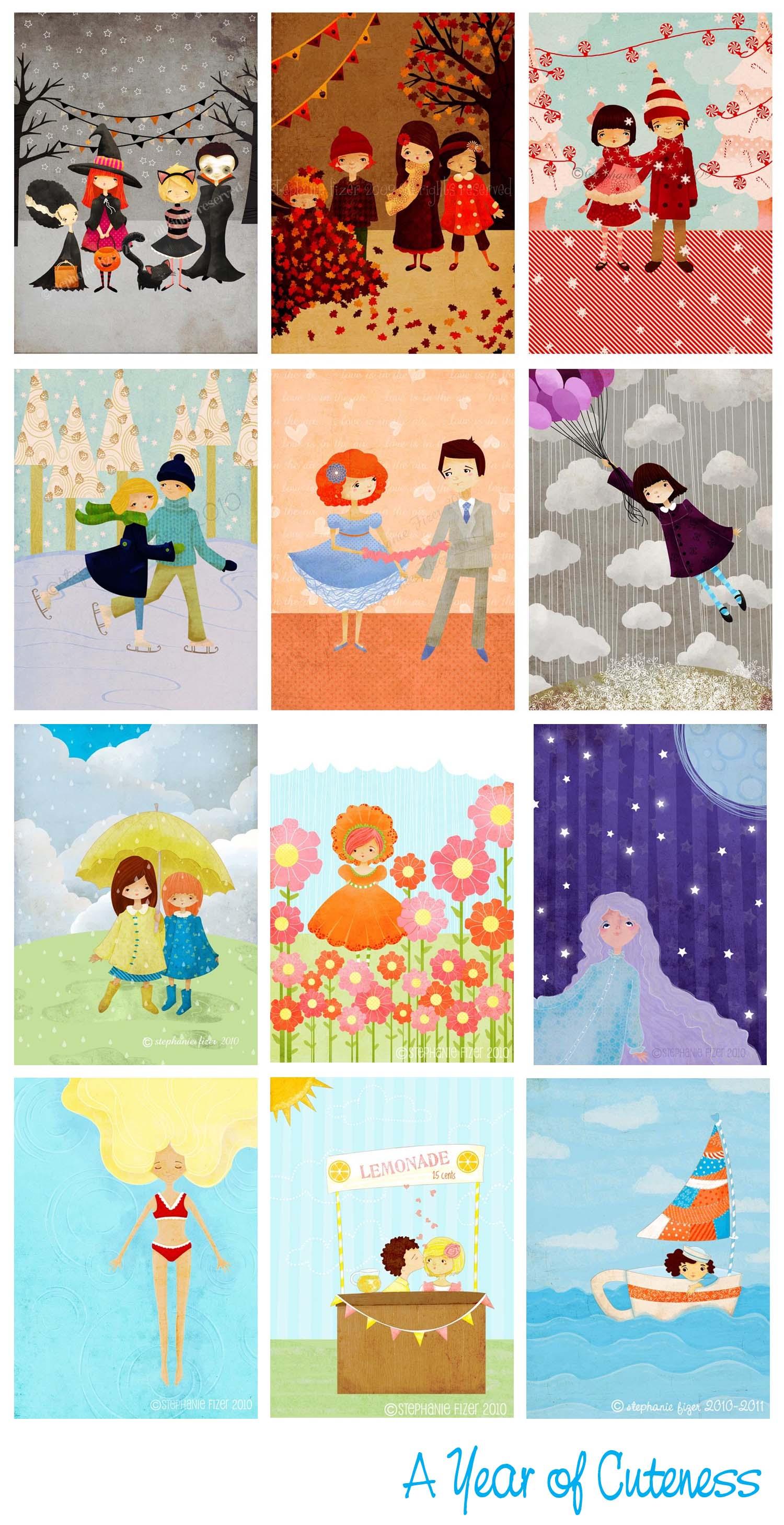 Month prints