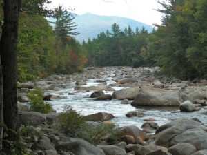 (East Branch) Pemigewasset River, Bondcliff in the background