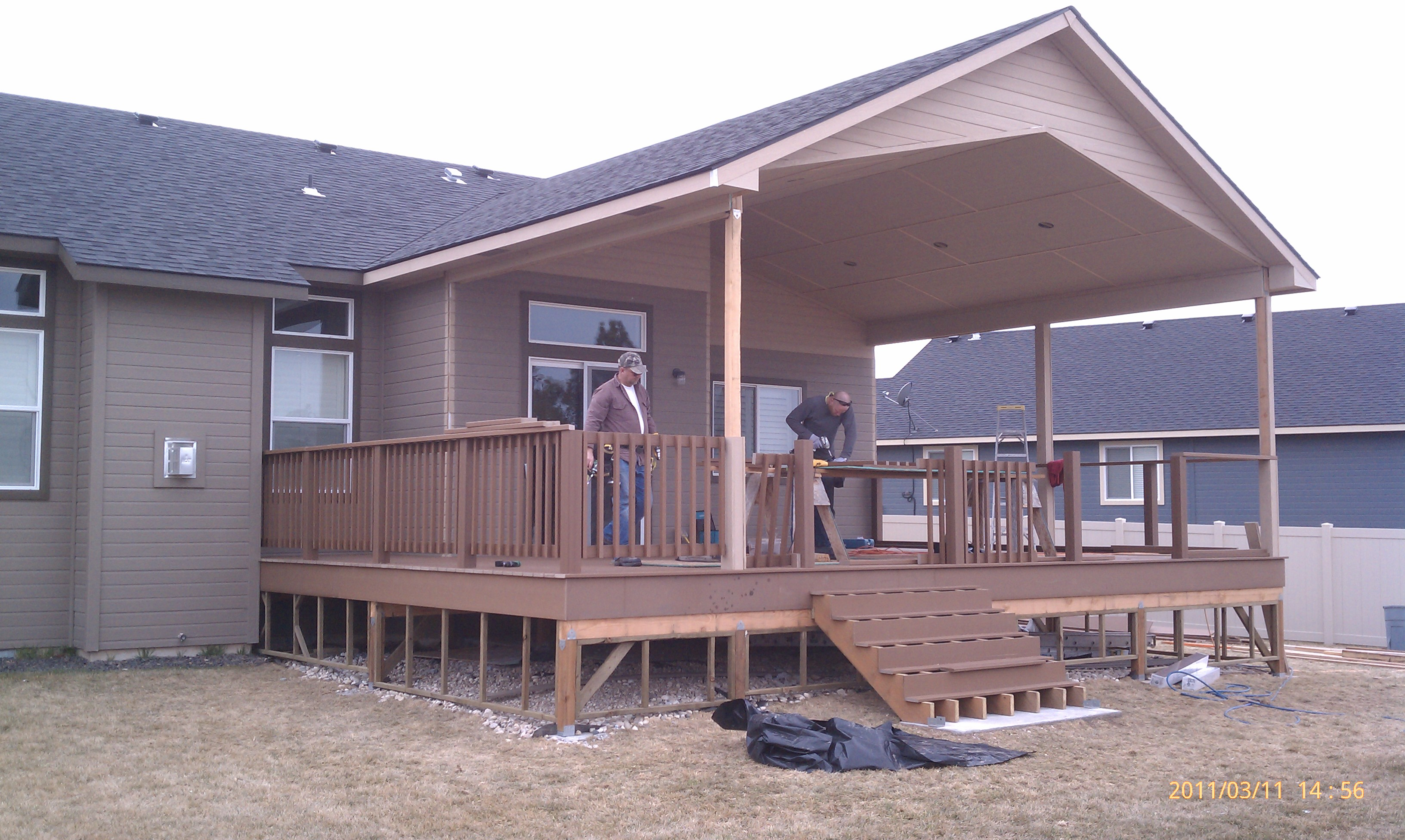 All hands on deck trends in deck design blog hibbard for House plans with decks