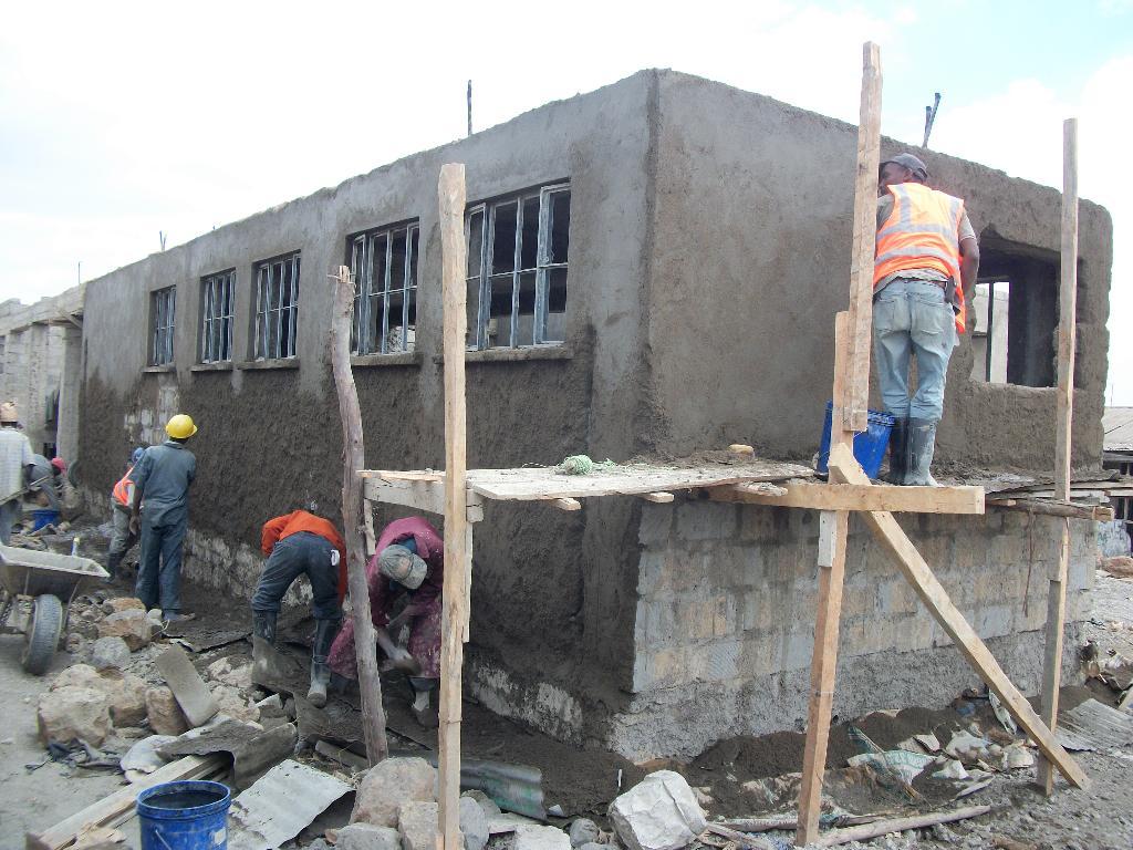 Plaster Wall Construction : Sidarec construction progress fivedot design build