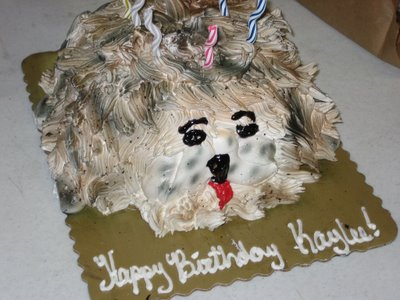 But It Still Looks More Like A Dirty Mop Head With Face Drawn On Than Dog Where Are The Legs Ears Neck Also If Youre Going To Have Cake