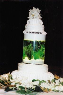 A Fish Tank In Wedding Cake