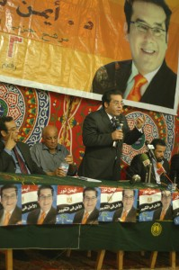 Ayman Nour on the campaign trail in Menouf, 2005.