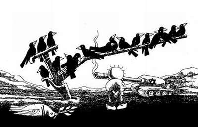 Naji Al-Ali Israeli tank shoots dove.jpg