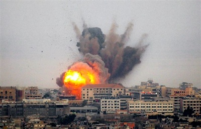 Smoke And Fire Rises After An Israeli Airstrike Hit The Suburbs Of Beirut, Lebanon, Friday, Aug. 4 Ap