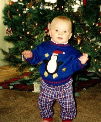 1998, first steps on Christmas day.