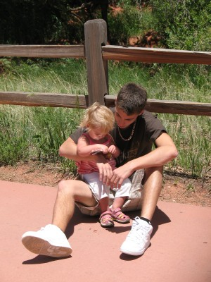 Garden of the Gods, Ed and baby