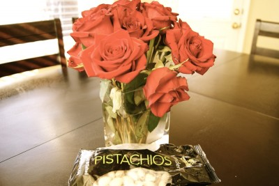 Roses & Pistachios are the way to a man's heart
