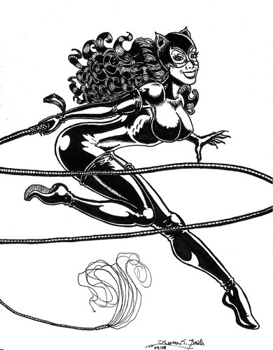 1990\'s Catwoman Artcard by Kevenn T. Smith