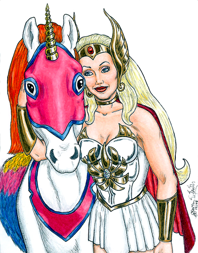 She-Ra and Swift Wind Artcard by Kevenn T. Smith