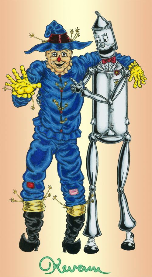 Scarecrow and Tin Woodman by Kevenn T. Smith ©Kevenn T. Smith 2009