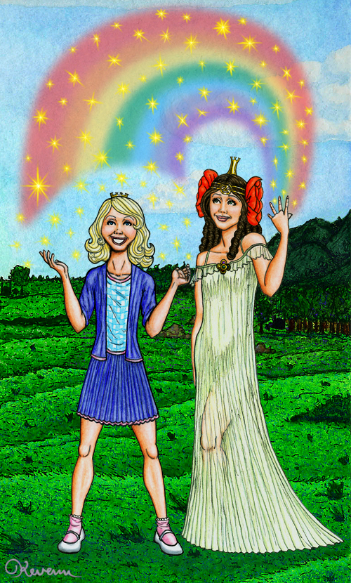 Dorothy and Ozma by Kevenn T. Smith © Kevenn T. Smith 2009