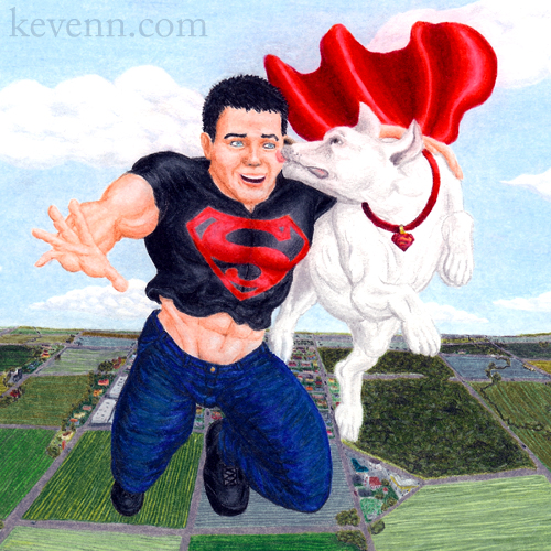 Superboy & Krypto Zoom-In by Kevenn T. Smith ©Kevenn T. Smith 2009