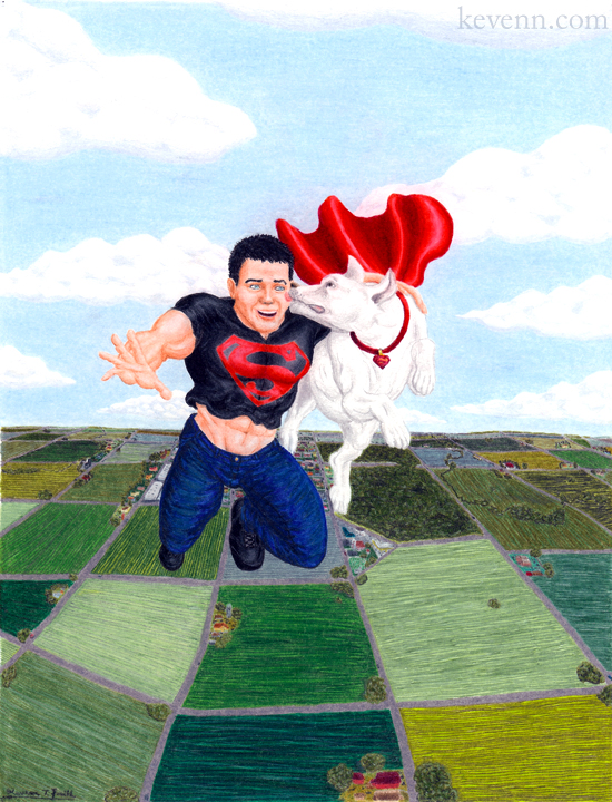 Superboy & Krypto by Kevenn T. Smith ©Kevenn T. Smith 2009