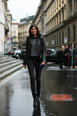 Photo of Emmanuelle Alt courtesy of TheSartorialist.com