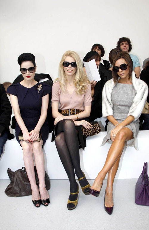 Dita Von Tesse, Claudia Schiffer, &amp; Victoria Beckham photo courtesy of Celebritygossip.net