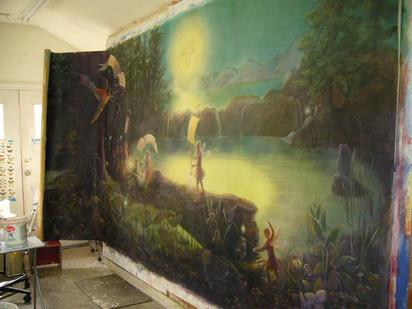 Image gallery magical fairy forest murals for Enchanted forest mural wallpaper