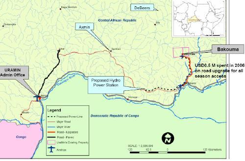 Bakouma Map